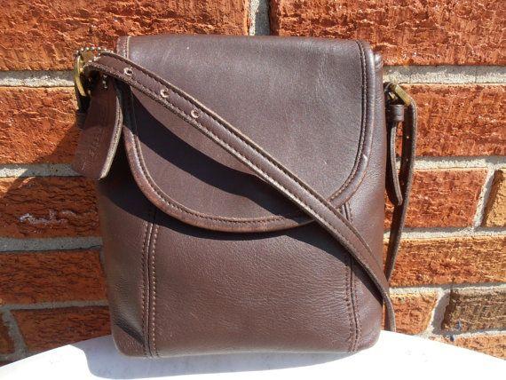 COACH Mahogany Small Flap LEATHER Handbag by GrandmaFliesABroom