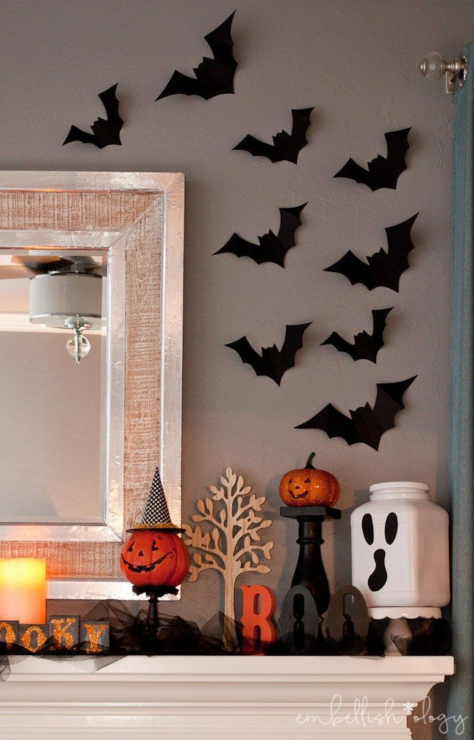 A Thrifty Halloween Mantle in 2018 Halloween Pinterest Spooky