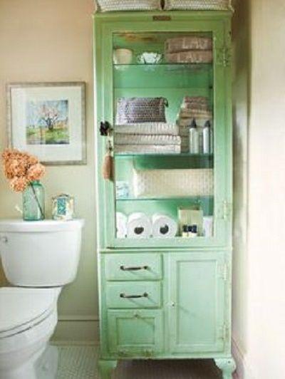 armadio-bagno-verde-menta