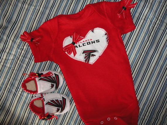 NFL Atlanta Falcons Tailgating Outfit Baby by doodlesbabylicious