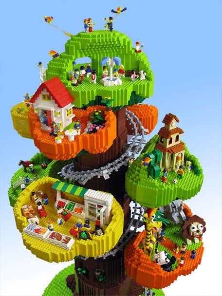 LEGO Tree Town #lego #legotree http://www.Adopt-A-Brick.com/