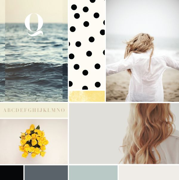 Moodboard (love the navy color and vintage feel)