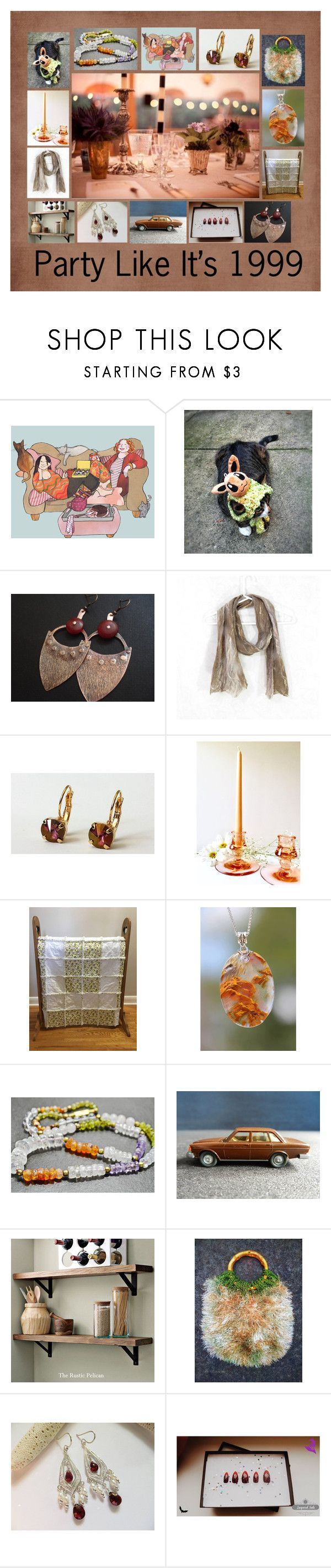 """""""Party Like It's 1999: Handmade Party Gift Ideas"""" by paulinemcewen ❤ liked on Polyvore featuring Rustico, rustic, vintage and country"""