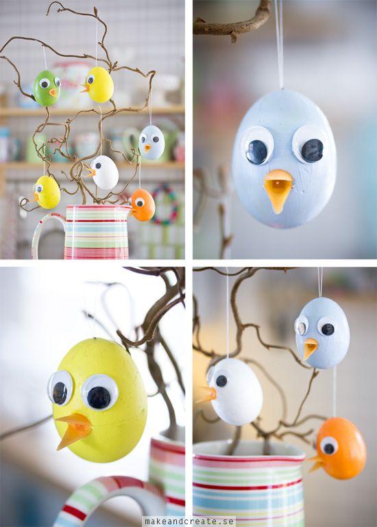Enkla påskkycklingar - Idébank - DIY - Make & Create