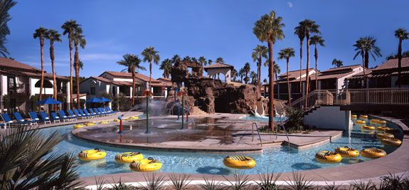 5 days/4 nights at the Omni Resort in Palm Springs. Splashtopia (located inside this golf resort) has water slides, a lazy river, splash pads, kids pool and a sandy beach. Heaven for families!