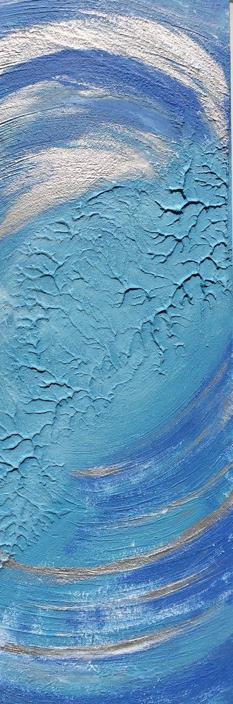 Blue & Silver Abstract Wall Art