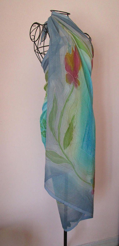 Foulard Grande Sciarpa Copricostume Pareo Batik