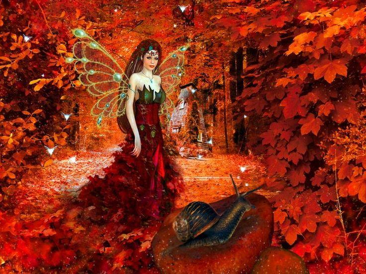 Autumn Fairy Wallpaper Autumn Fairy Autumn Fantasy