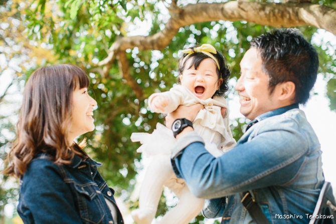 【大阪】2年前に結婚式を撮影のご家族と子供写真撮影