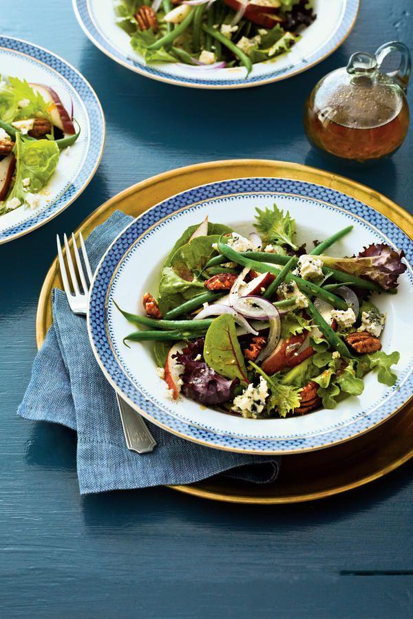 Vegetarian Side Dishes: Fresh Pear-and-Green Bean Salad with Sorghum Vinaigrette