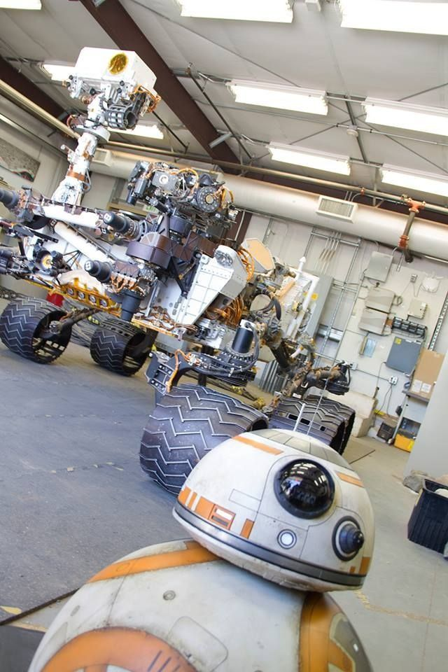 BB-8 and the twin Curiosity rover