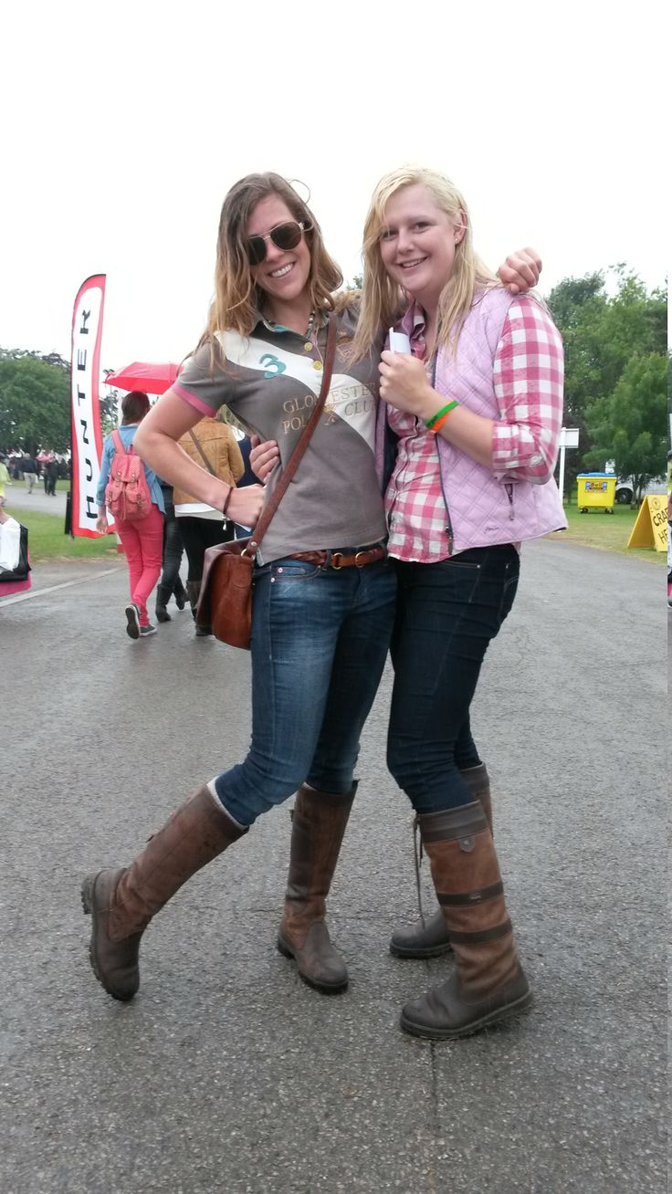 Having fun in the torrential rain! Libby Kennedy and Emma Holgate - both from North London - were enjoying themselves despite the weather... and were living proof that Dubarry boots look great and keep your feet dry. We love your 'Dubes', ladies, and we love your style!