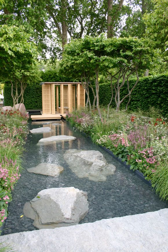 Laurent-Perrier Garden by Luciano Giubbilei, at Chelsea: Modern Gardens, Garden Design, Water Features, Garden Water Feature, Outdoor Water Feature, Water Garden, Modern Water Feature, Stepping Stones, Outdoor Projects