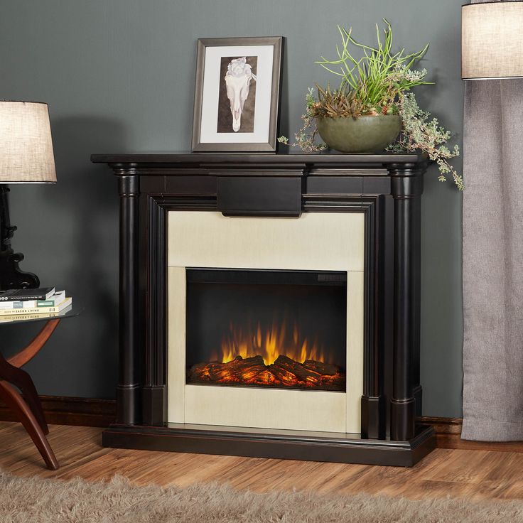 Real Flame Maxwell Electric Fireplace In Blackwash