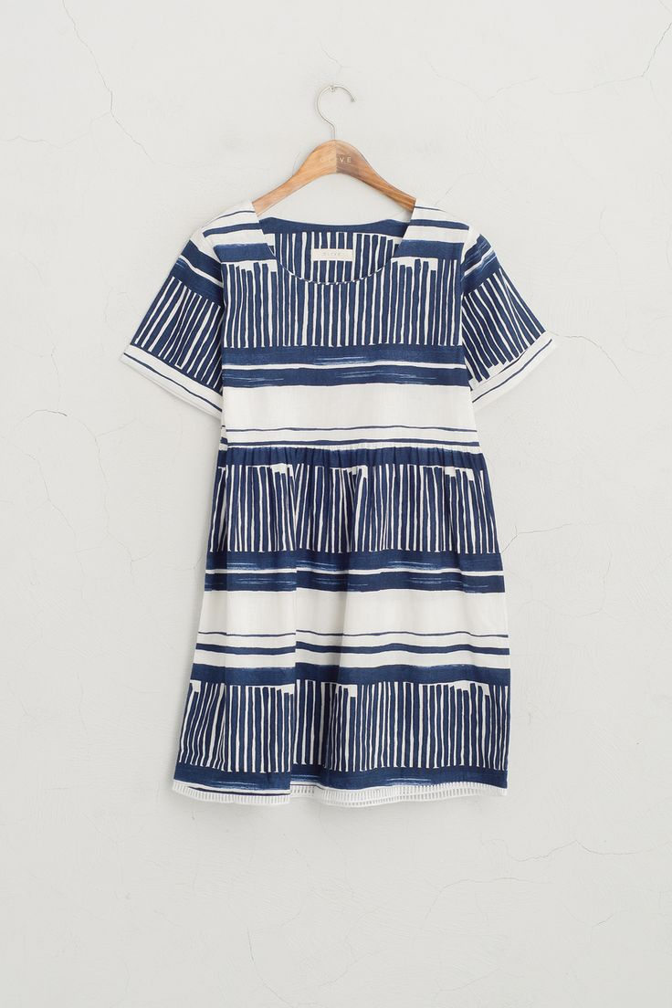 Olive - Multi-Print Short Sleeve Dress, Navy, £58.00 (http://www.oliveclothing.com/p-oliveunique-20160714-076-navy-multi-print-short-sleeve-dress-navy)