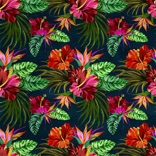 Vector Tropical Pattern - Commercial License for One Pattern.