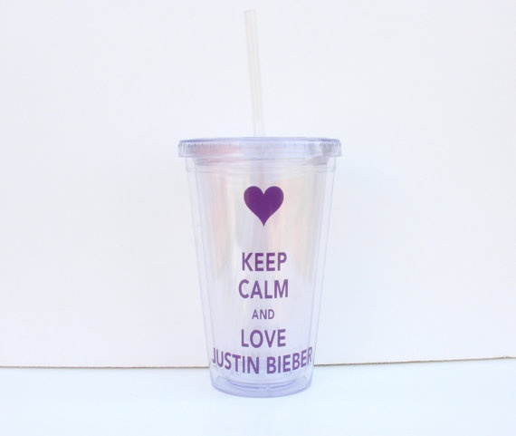 Personalized Keep Calm and Love Justin Bieber by RayneEDayCrafts, $12.00