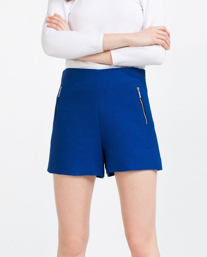 Pin for Later: 25 Pairs of Stylish Summer Shorts — That Aren't Denim Cutoffs  Zara Bermuda Shorts With Zips ($36)