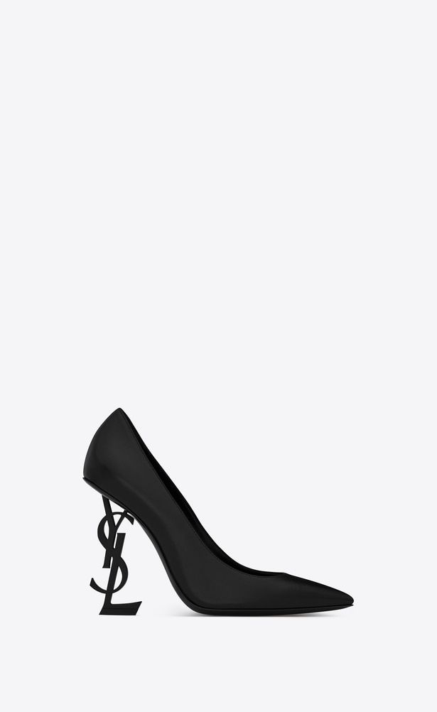 37a7618b SAINT LAURENT YSL heels Woman OPYUM 110 pumps in black leather and ...