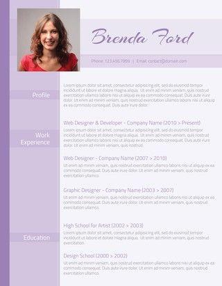 Professional Purple Resume
