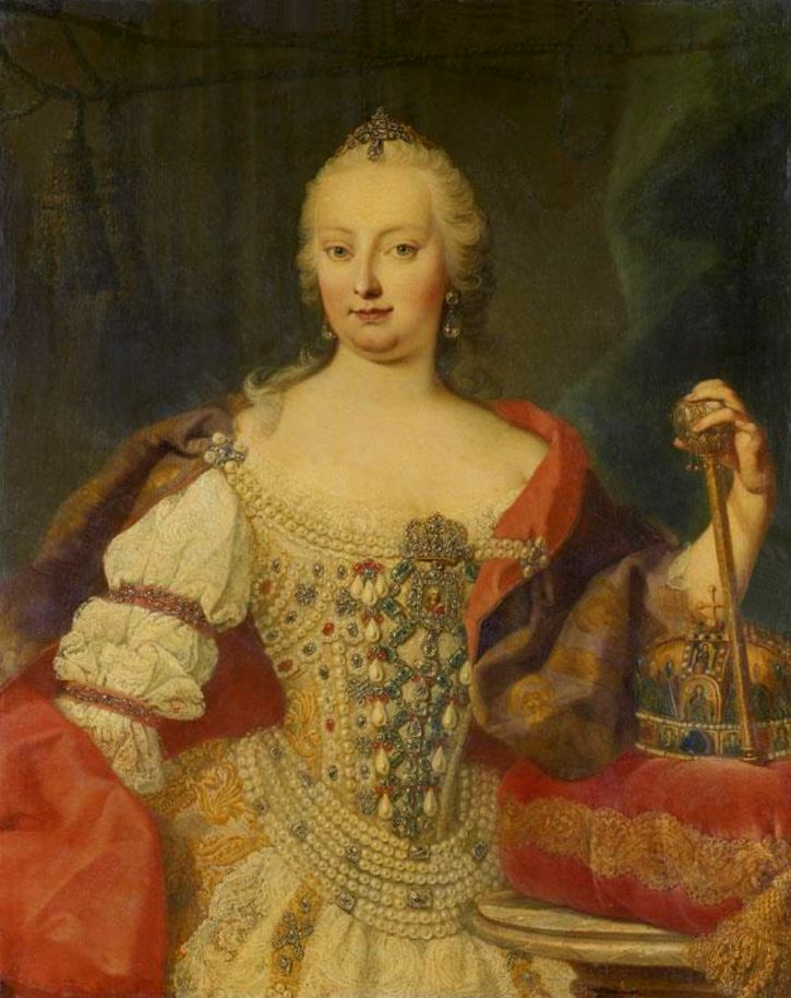 Maria Theresia, Queen of Hungary attributed to Martin van Meytens (auctioned by Tajan) | Grand Ladies | gogm