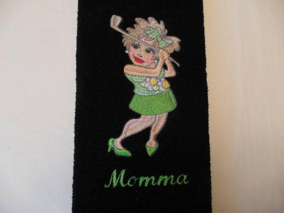 Fun golf towel