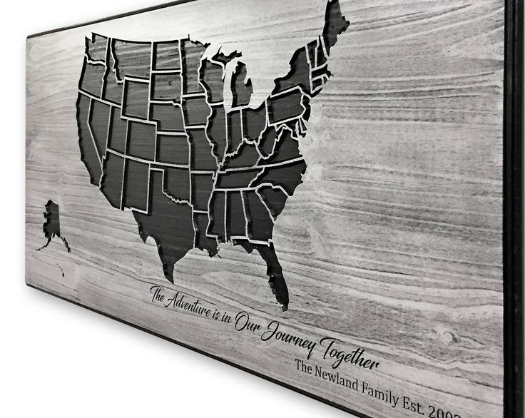Map of United States, US Map Picture, Wood Wall Art, Map with Custom Quote, Carved, 3D Wall Art, Travel Decor, Push Pin Map, Mark Travels by HowdyOwl on Etsy