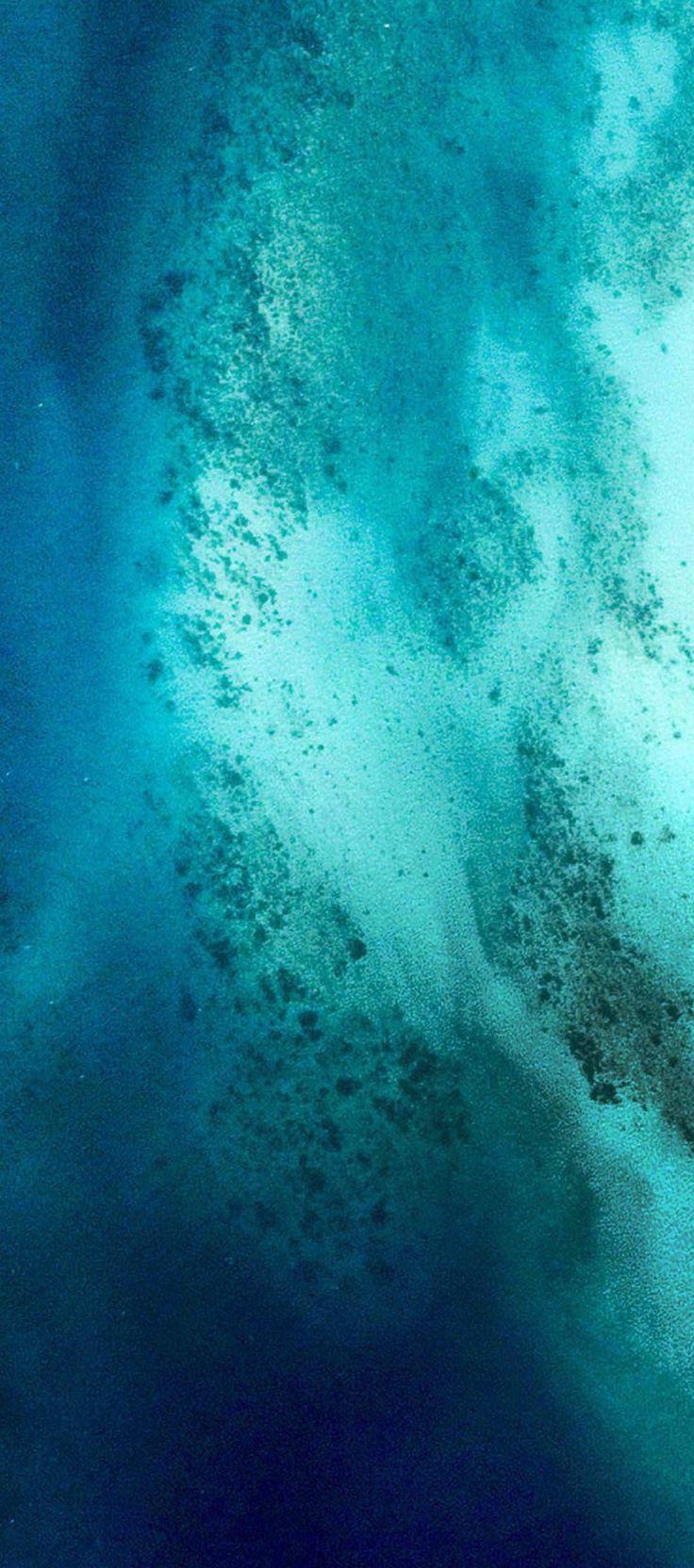 Ios 11 Iphone X Aqua Blue Water Wave Ocean Apple Wallpaper