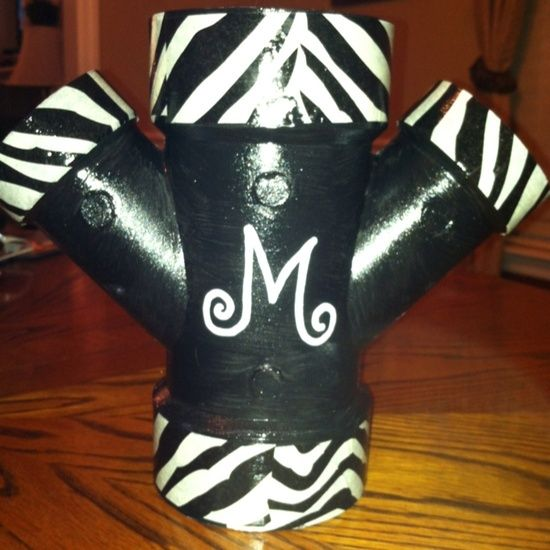 pvc curling iron holder | ... love / Curling iron/blow dryer/flat iron holder-- painted PVC pipe
