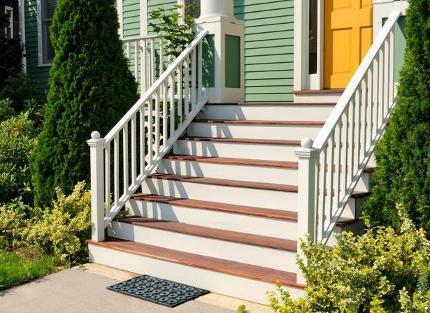 front porch stairs railing - Google Search