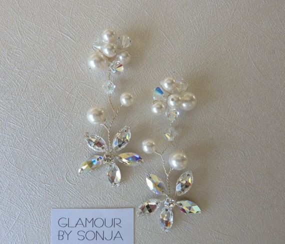 Bridal Earrings Earrings Wedding Jewelry Bridal by glamourbysonja