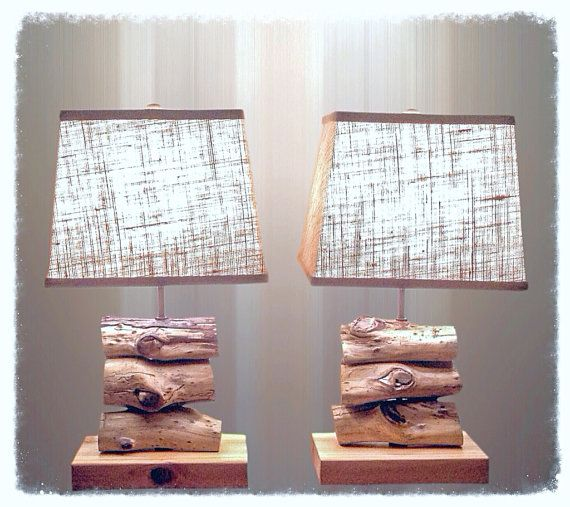 Driftwood Lamp   #reclaimed  #driftwood #lamps #lighting #seaside #upcycled #wood #beachwood #accents #seasidehomeaccents