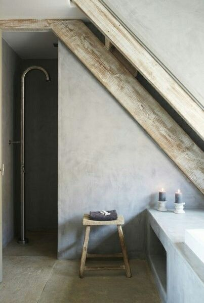 Concrete and wood, love the lines and simplicity.