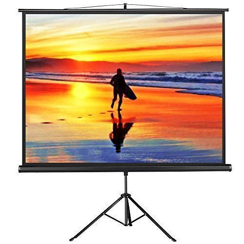 Yaheetech Portable Indoor Outdoor Projector Screen 100 Inch Diagonal Projection Hd 4 3 Projec Outdoor Projector Screens Outdoor Projector Home Cinema Projector