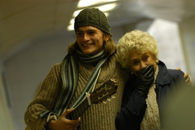 "Rupert Friend and Joan Plowright portray the characters of Ludovic Meyer and Mrs Palfrey respectively in the movie ""Mrs Palfrey at the Claremont""......."