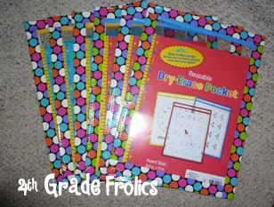 4th Grade Frolics: Monday Made It.  Dry erase pockets made cute with duct tape. can use as whiteboard OR with worksheets.