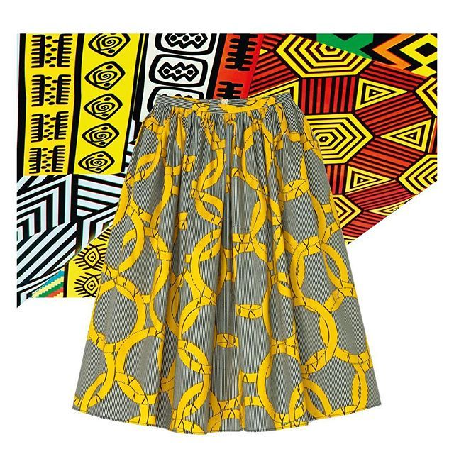 Adopt the colors of Africa Now with a skirt by @maisonchateaurouge, available exclusively at Galeries Lafayette.  #GaleriesLafayette #AfricaNow #maisonchateaurouge
