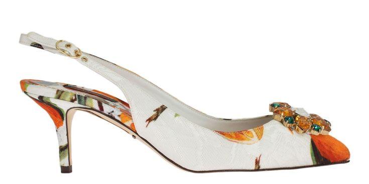Dolce & Gabbana Blue Silk Crystal Studded Sandal