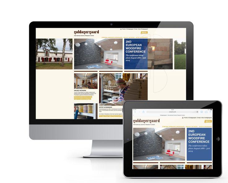 Guldagergaards neue Website ceramic.dk. Eine stark visuell geprägte Website mit vielen Bildern und Informationen.