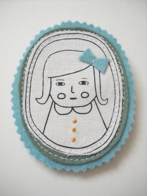Larka Designs Lady Pin $16  #gifts #accessories #handmade #etsy
