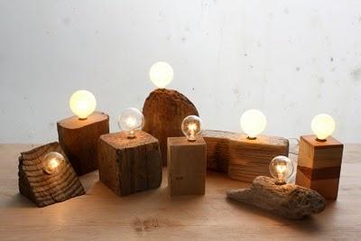 CdC Lamparas de madera, reciclada o no