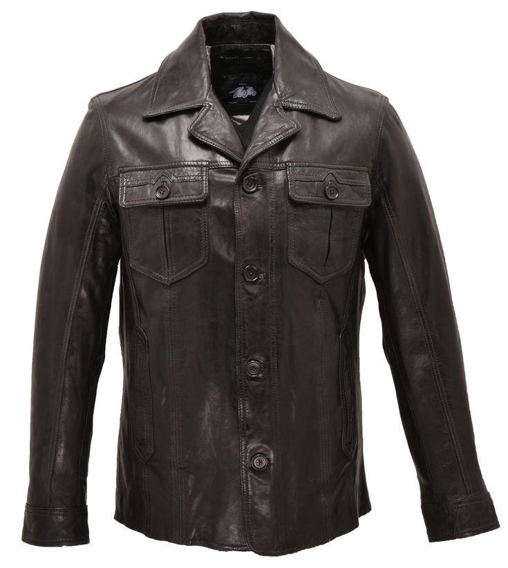 Vêtement en cuir Vestes courte / demi longueur CUIRS GUIGNARD noir