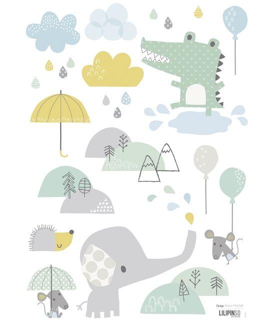 Sticker chambre bébé éléphant