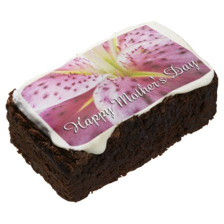 Stargazer Lily 'Happy Mother's Day' Brownie - tap, personalize, buy right now!