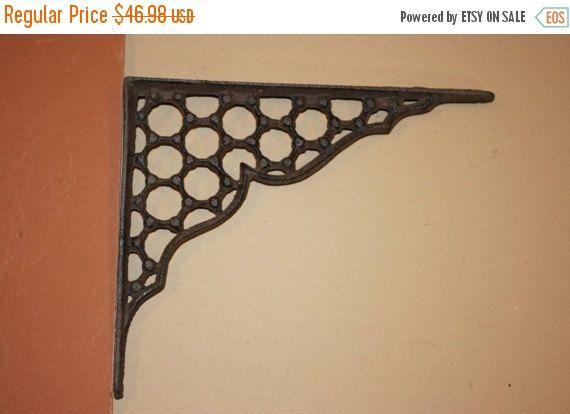 decorative rustic cast iron shelf brackets honeycomb design 7 9 we peddle metal 1