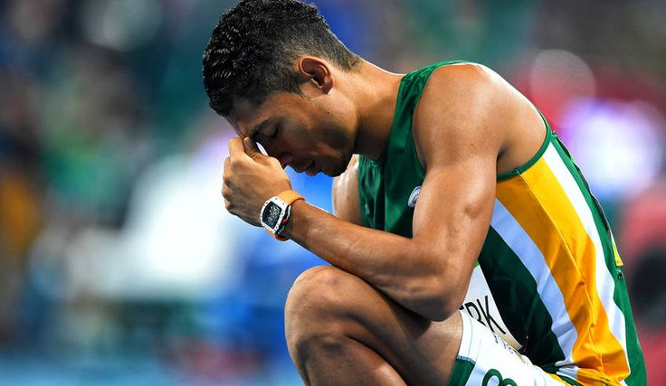 Photo: Wayde van Niekerk of South Africa after winning the men's 400m final of the Rio 2016 Olympic Games Athletics, Track and Field events at the Olympic Stadium in Rio de Janeiro, Brazil, 14 August 2016. Van Niekerk set a new World Record time of 43.03 seconds.  EPA/LUKAS COCH