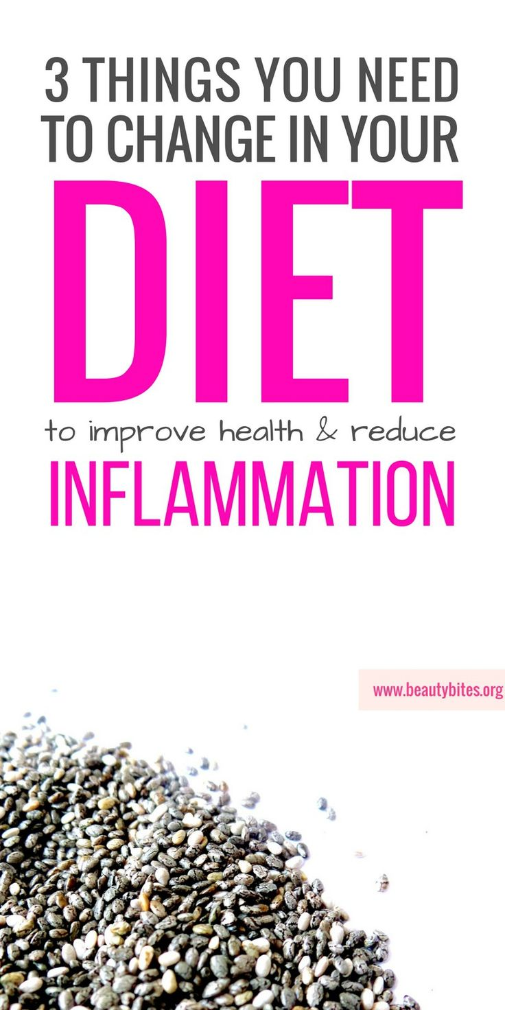 Anti-Inflammatory diet - take these 3 practical steps to reduce inflammation with diet and improve your health!  beautybites.org   Anti inflammation diet   Anti-Inflammatory Eating   Anti-Inflammatory Recipes
