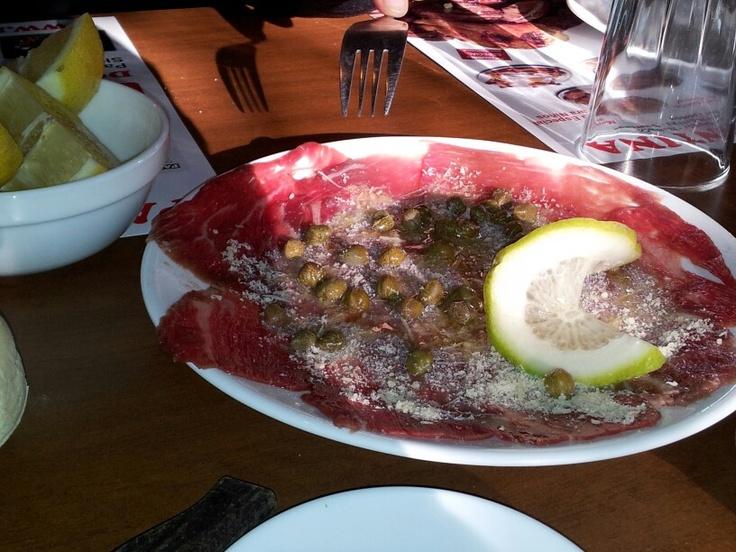 Carpacho de filete en parrilladas Argentinas
