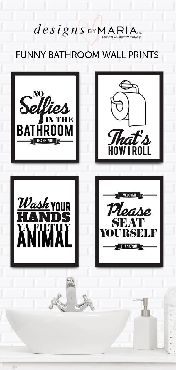 Set Of 4 Funny Bathroom Rules Funny Bathroom Decor Picture Frame Designs Bathroom Humor
