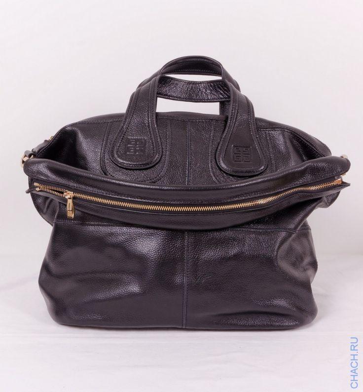 Сумка Givenchy (Живанши) Nightingale bag черная из натуральной кожи, среднего размера